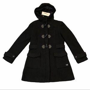 BYBLOS**Black Wool Toggle Coat**Age 2 & 8**$485